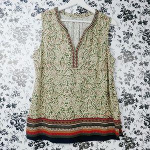 Anthropologie Daniel Rainn embroidered top sz XL